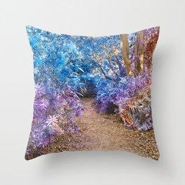 Fairy Tale Trail Throw Pillow