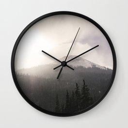 Colorado Mountain Pass Wall Clock
