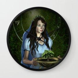 Virgo zodiac fantasy Wall Clock