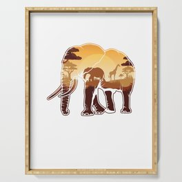Elephant Safari Animals Zoo Zookeepers Rescue Animal Nature Veterinarian Forest Gift Serving Tray