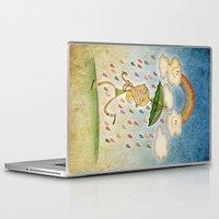 rain Laptop & iPad Skins featuring Rain by José Luis Guerrero