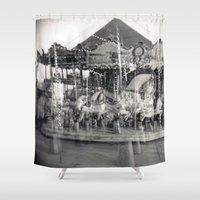 carousel Shower Curtains featuring Carousel by Ibbanez