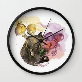Mushrooms, dragon eggs and a mole Wall Clock