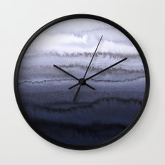 WITHIN THE TIDES BLUE Wall Clock