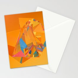 Crystal low poly refraction art Stationery Cards
