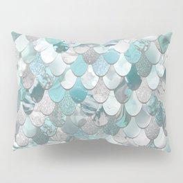 Mermaid Aqua and Grey Pillow Sham
