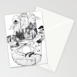 Hamsa in Nature Stationery Cards