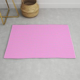 Classic Rockabilly Gingham in Bubblegum Pink Rug