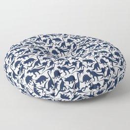 Little Dinosaur Friends - indigo Floor Pillow