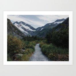 Trail to Byron Glacier, Chugach National Forest, Alaska Art Print