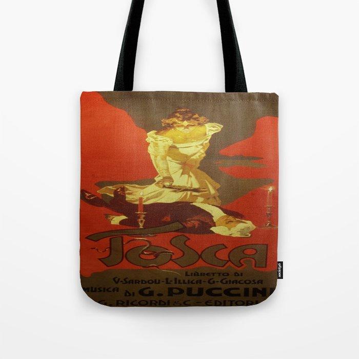 fc56f7ae4871 Vintage poster - Tosca Tote Bag by mosfunky
