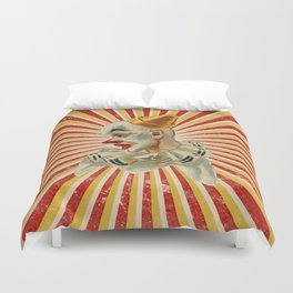 Scary vintage circus clown Duvet Cover