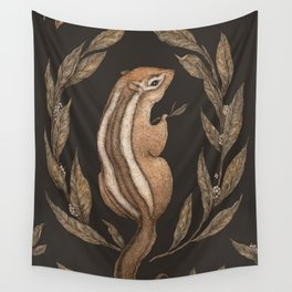 The Chipmunk and Bay Laurel Wall Tapestry
