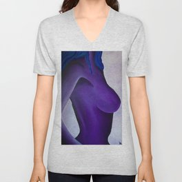 Feminine Purple  Unisex V-Neck