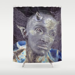 BLUE DEVIL Shower Curtain