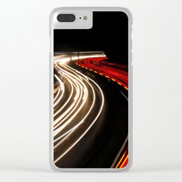 Abstract Car Lights at Night Clear iPhone Case