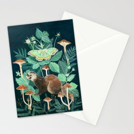 Ferret and Moth Stationery Cards