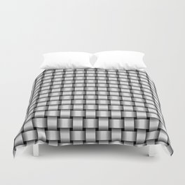 Small Pale Gray Weave Duvet Cover