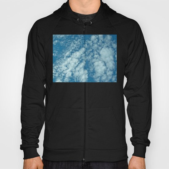 Fluffy clouds in a blue sky Hoody