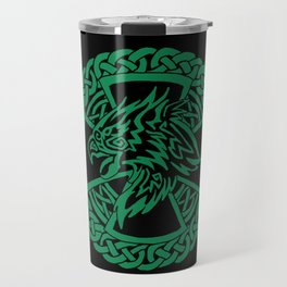 Celtic Hawk Travel Mug