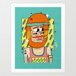 90´Style Barbas Art Print