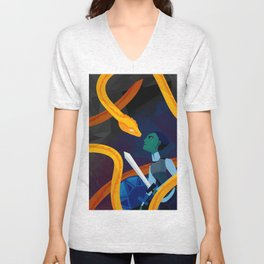 Facing the Serpent Unisex V-Neck