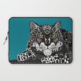 snow leopard teal Laptop Sleeve
