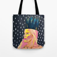 princess bubblegum Tote Bags featuring Bubblegum Princess by AprilNicole