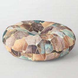 Natural Hexagons And Diamonds Floor Pillow