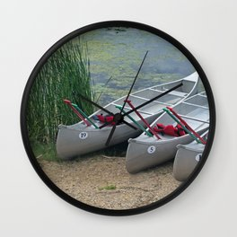 Canoes to Go Wall Clock