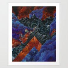 Let the fires burn Art Print