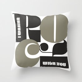 Rock With You Throw Pillow