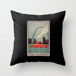 St. Louis Chariot Tarot Throw Pillow
