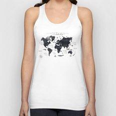 The World Map Unisex Tank Top