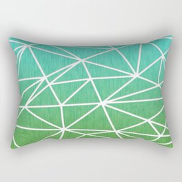 Abstract geometric | green & turquoise Rectangular Pillow