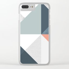 Modern Geometric 12 Clear iPhone Case