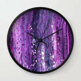 Under The Purple Sea Wall Clock