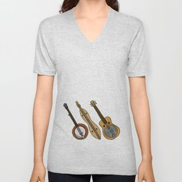 Banjo, Dulcimer, Resonator Unisex V-Neck