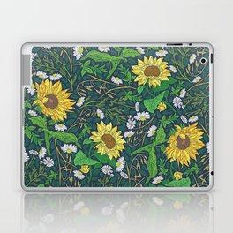 Yellow sunflowers among white chamomile and oats Laptop & iPad Skin