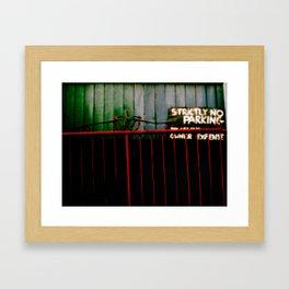 red gate two. Framed Art Print