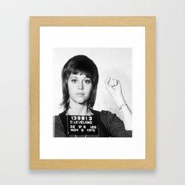 Jane Fonda Mugshot Vertical Framed Art Print