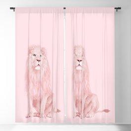 PINK LION Blackout Curtain
