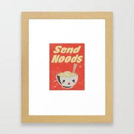 Send Noods Vintage Ramen Noodles Japanese Food Gift For Foodies Framed Art Print