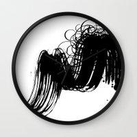 sketch Wall Clocks featuring sketch by gloriuos days