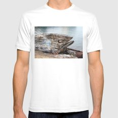 Fish Boat MEDIUM Mens Fitted Tee White