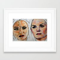 swan queen Framed Art Prints featuring Swan Queen by Bernadette Woods