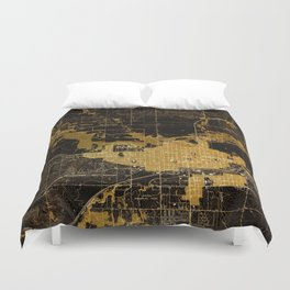 Marshalltown antique map year 1960, united states old maps Duvet Cover