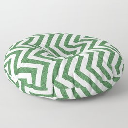 Canadian Wildlife Chevron Emerald Floor Pillow