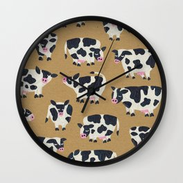 Cow Collection - Kraft Wall Clock