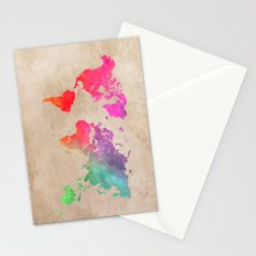 world map 41 Stationery Cards